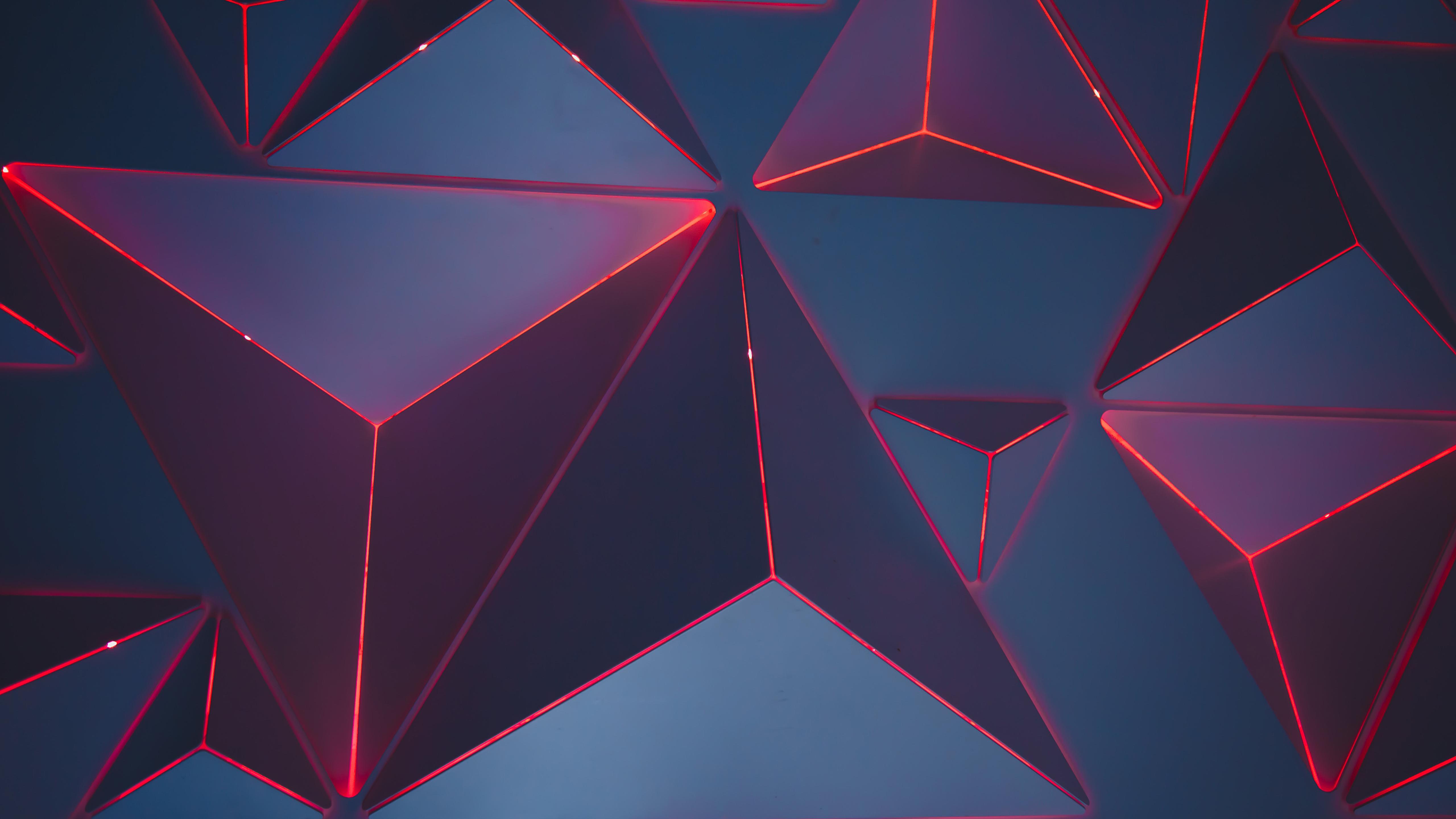 3D треугольников обои скачать
