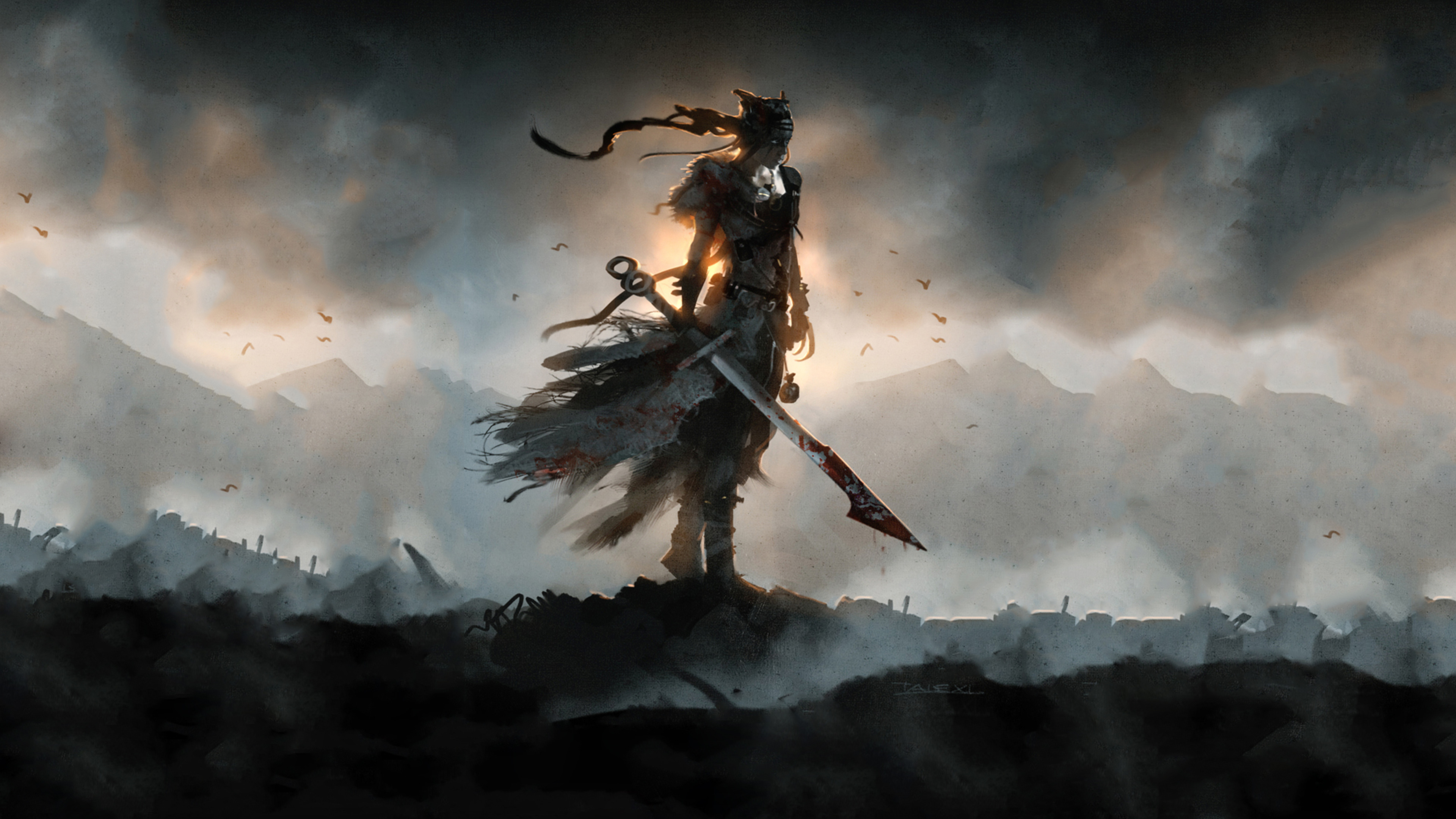 Hellblade senuas жертву. обои скачать