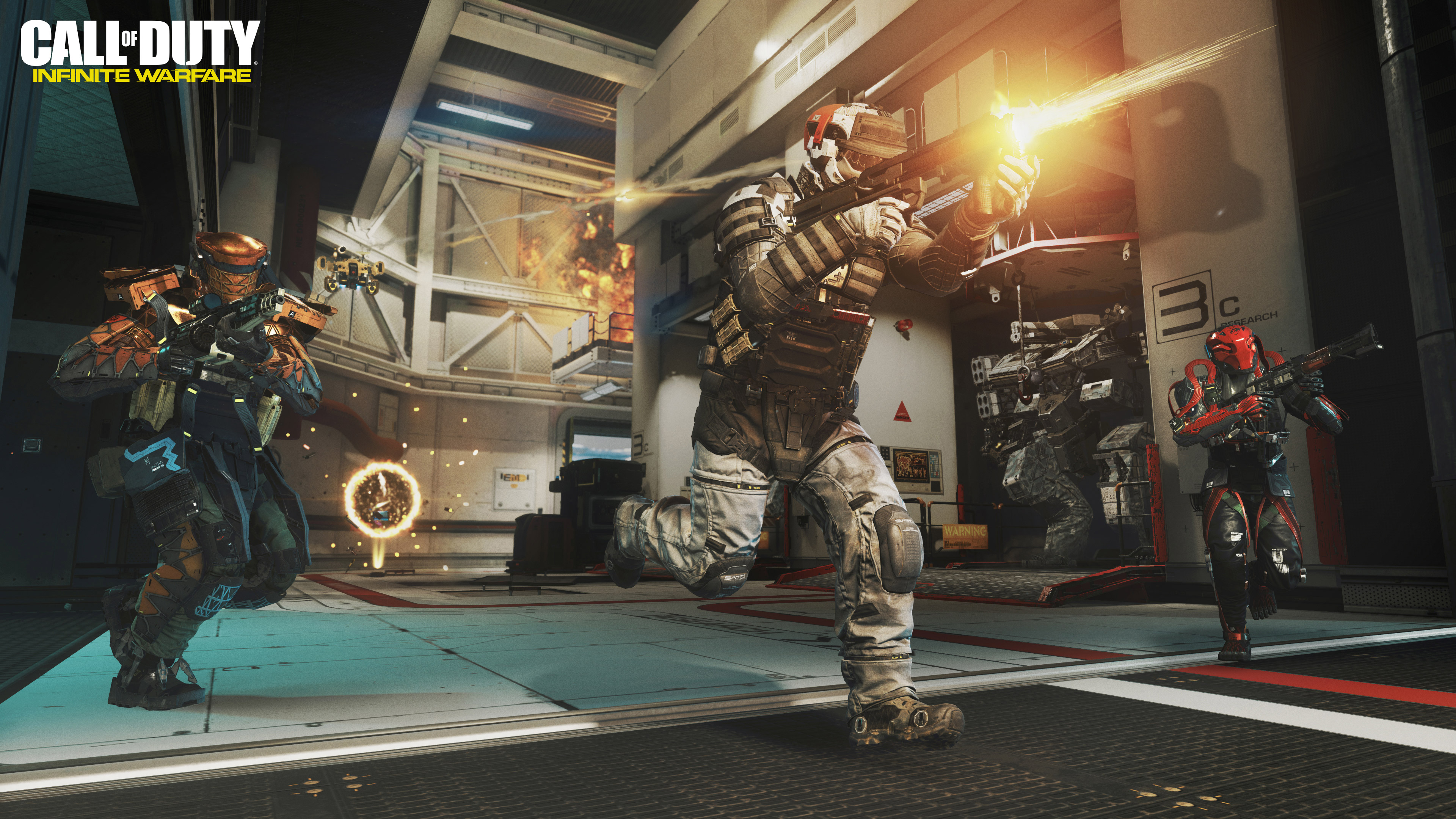 Зов долга бесконечной войны геймплей обои скачать