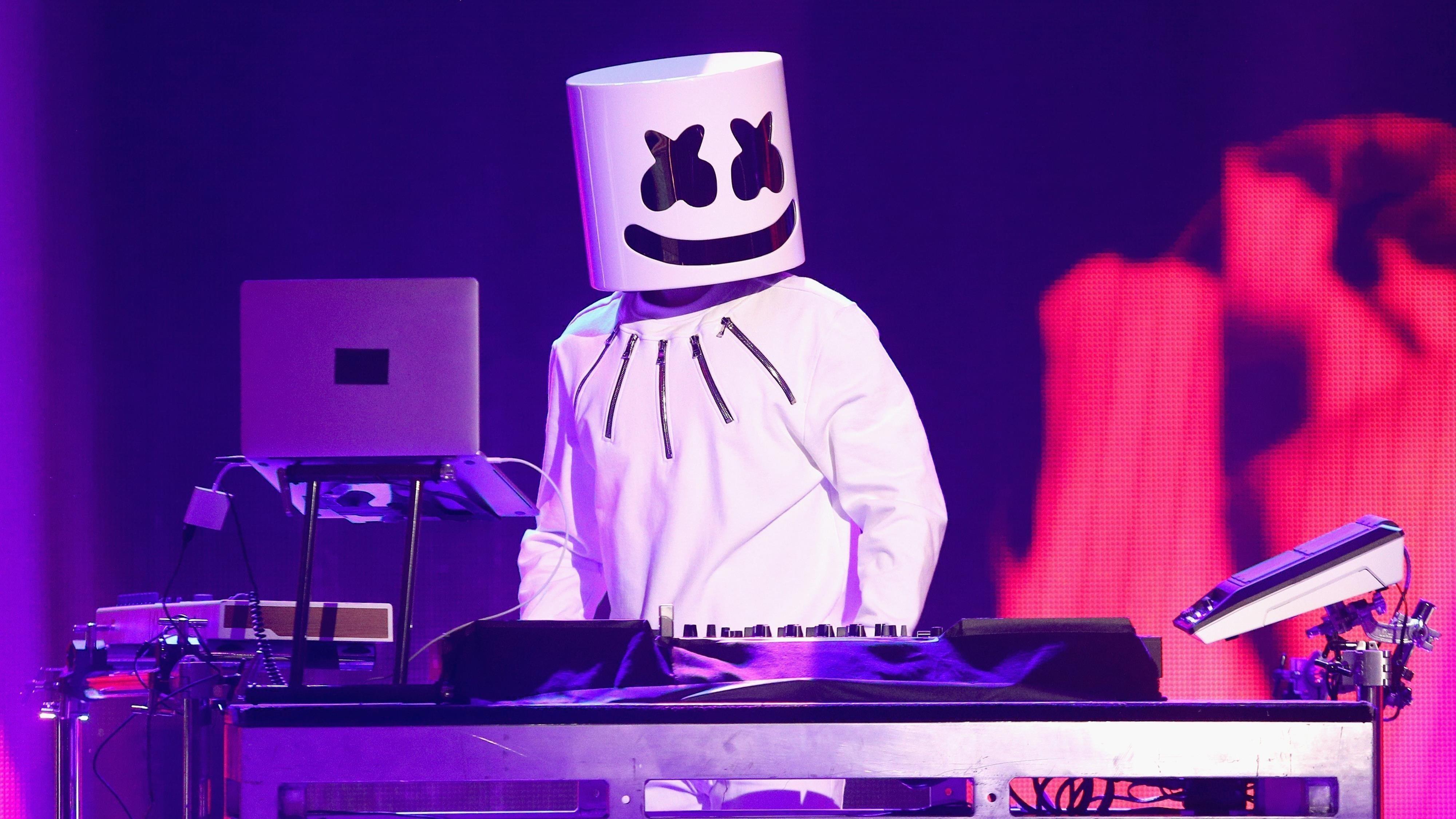 Marshmello american dj live концерт обои скачать