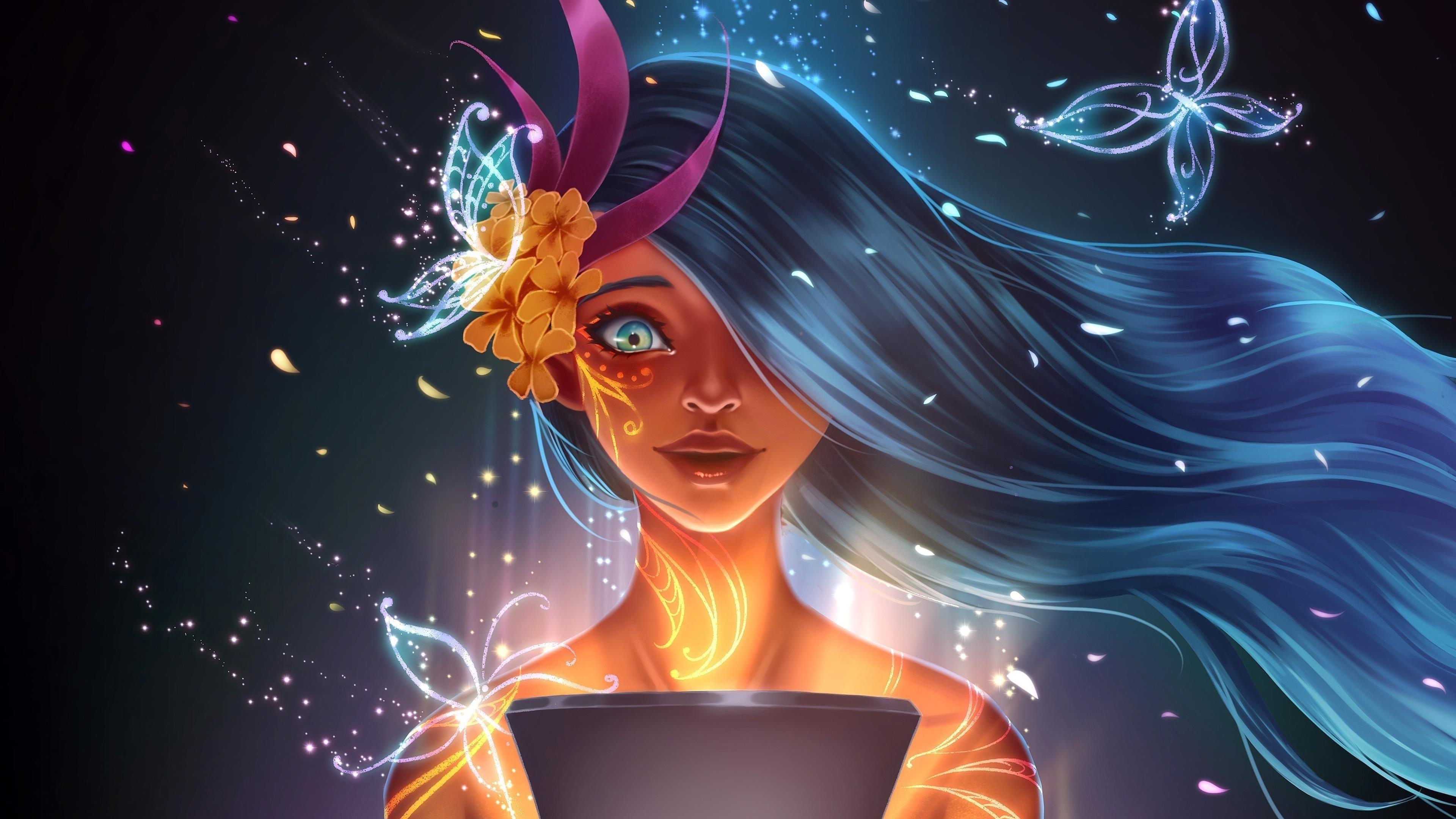 Волшебная девочка обои скачать