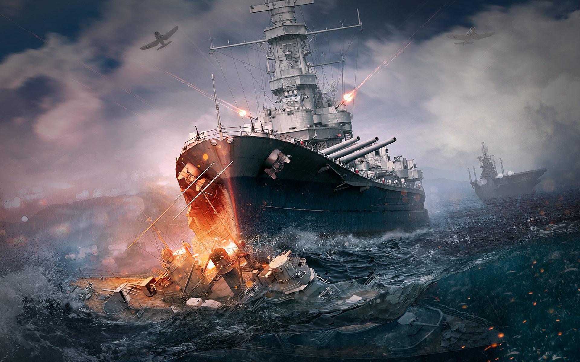 Мир военных кораблей обои скачать