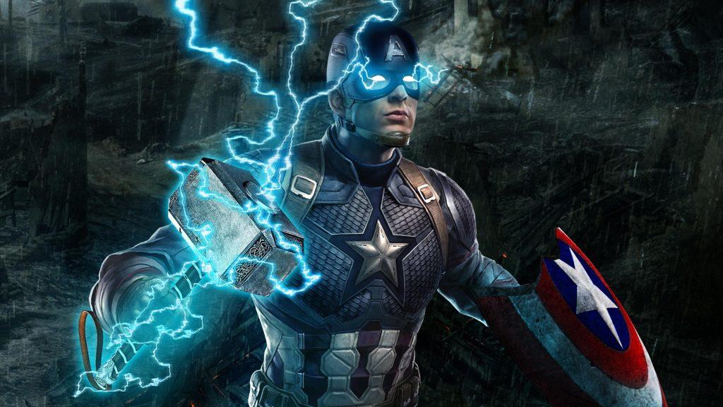 Капитан Америка в эндшпиле Мстителей обои скачать