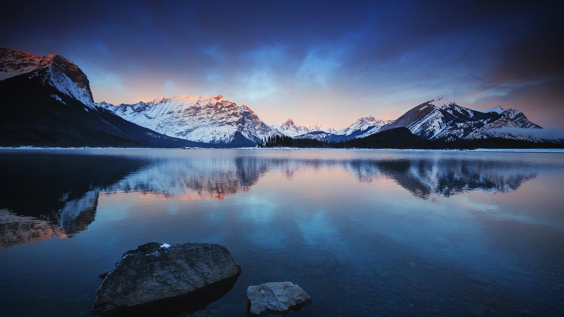 Озеро горы стокового Android обои скачать