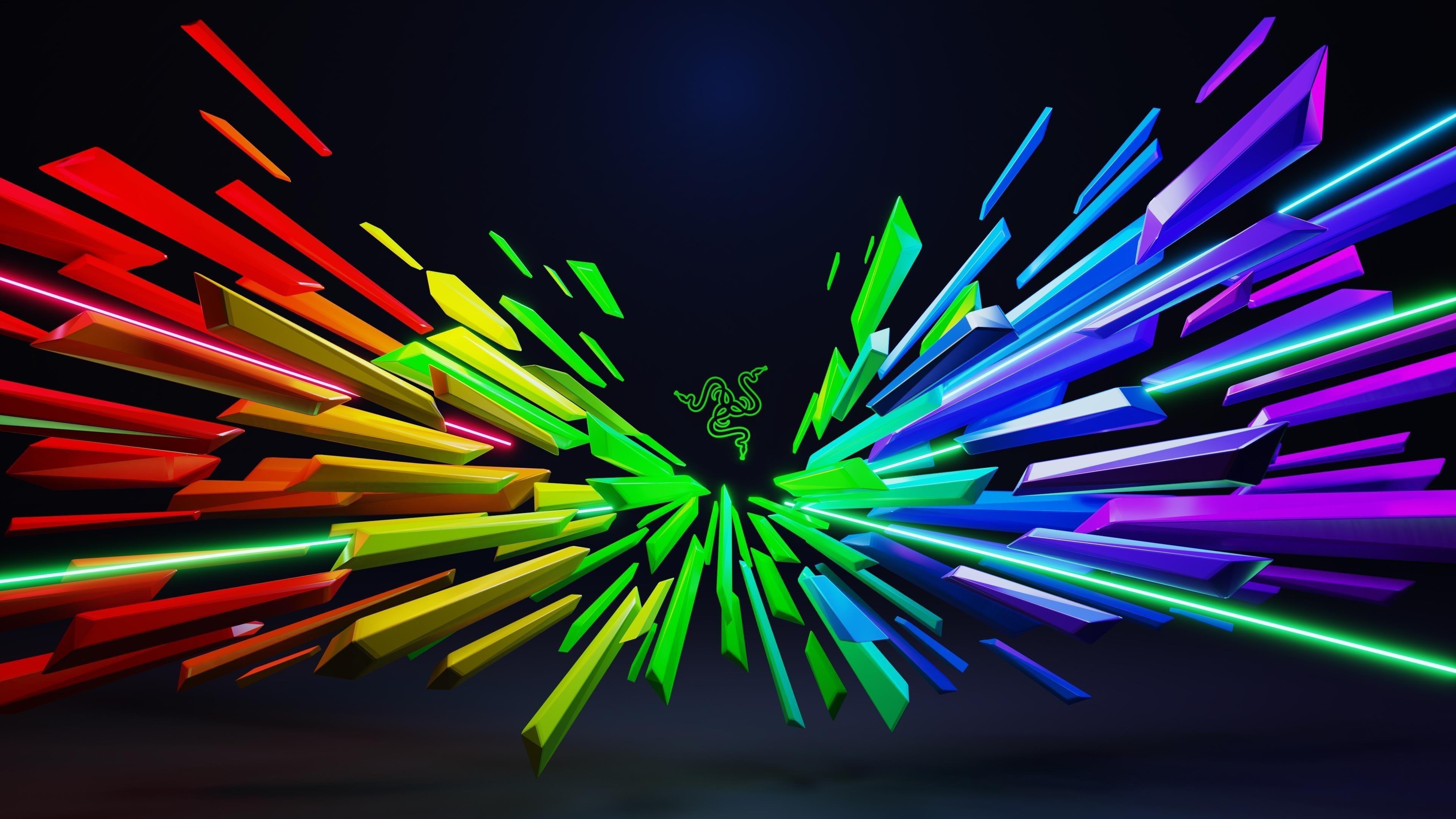 Razer красочные абстрактные обои скачать