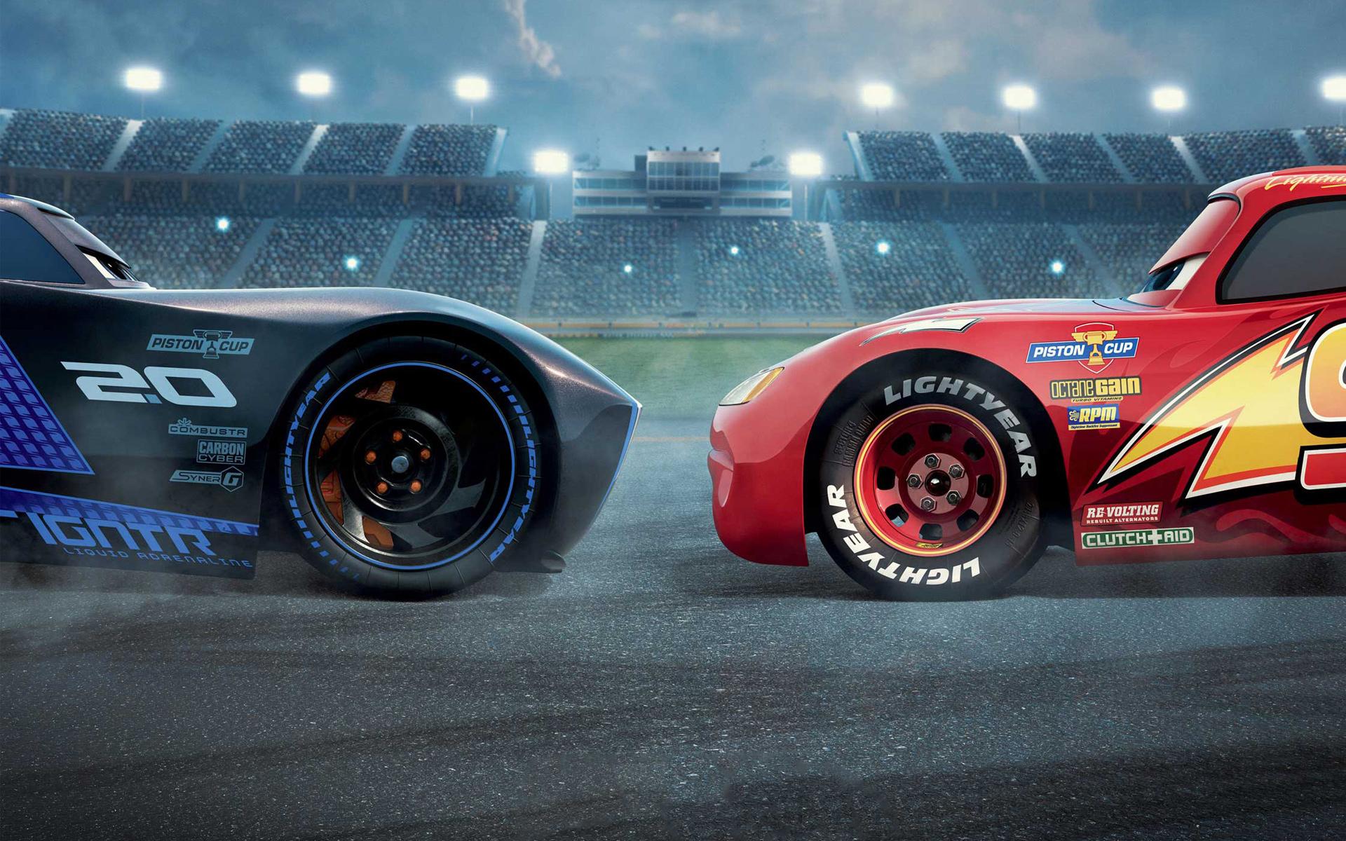 Cars 3 jackson storm vs lightning mcqueen. обои скачать