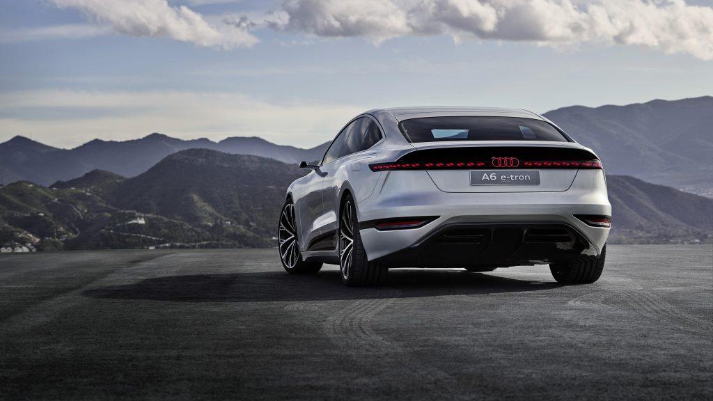 Audi a6 e tron concept 2021 4 автомобиля обои скачать