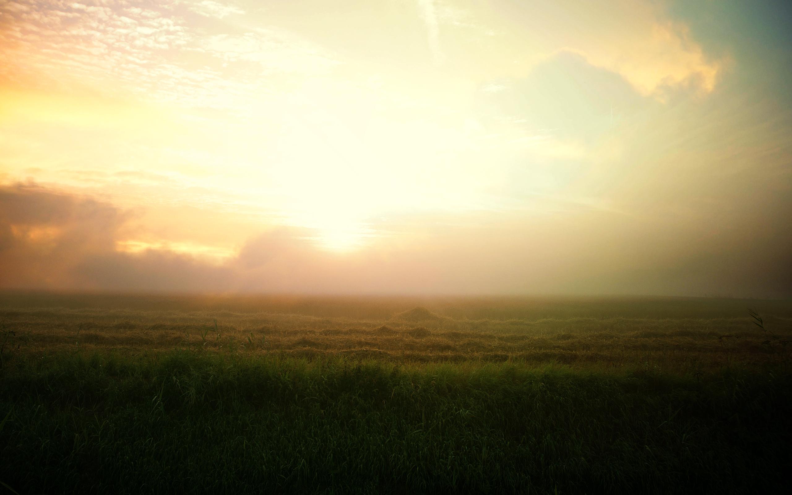 Восход фермы пейзаж. обои скачать