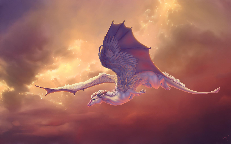 Pegasus летающий лошадь дракон. обои скачать