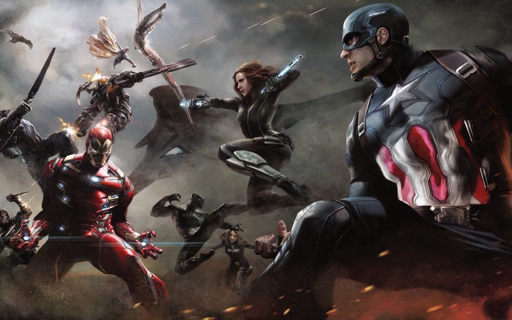 Капитан Америка искусства гражданской войны. обои скачать