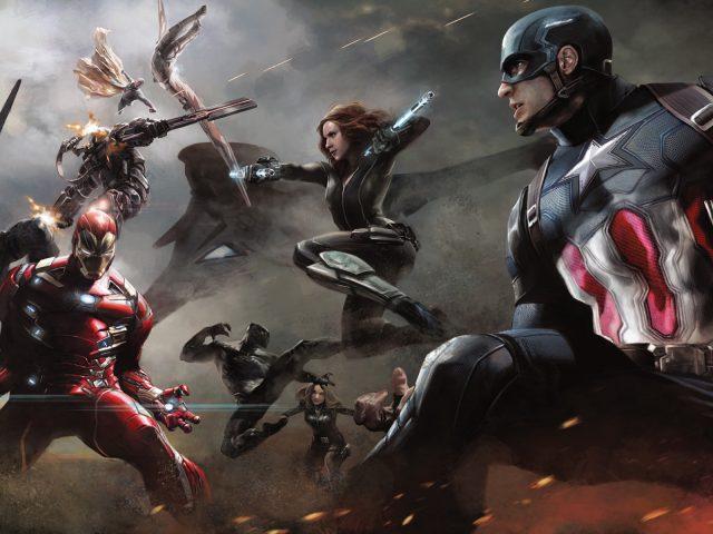 Капитан Америка искусства гражданской войны.
