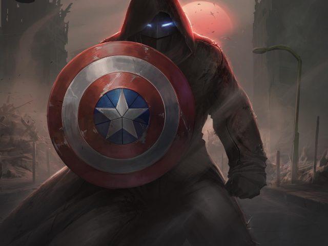 Марвел Капитан Америка щит обложка