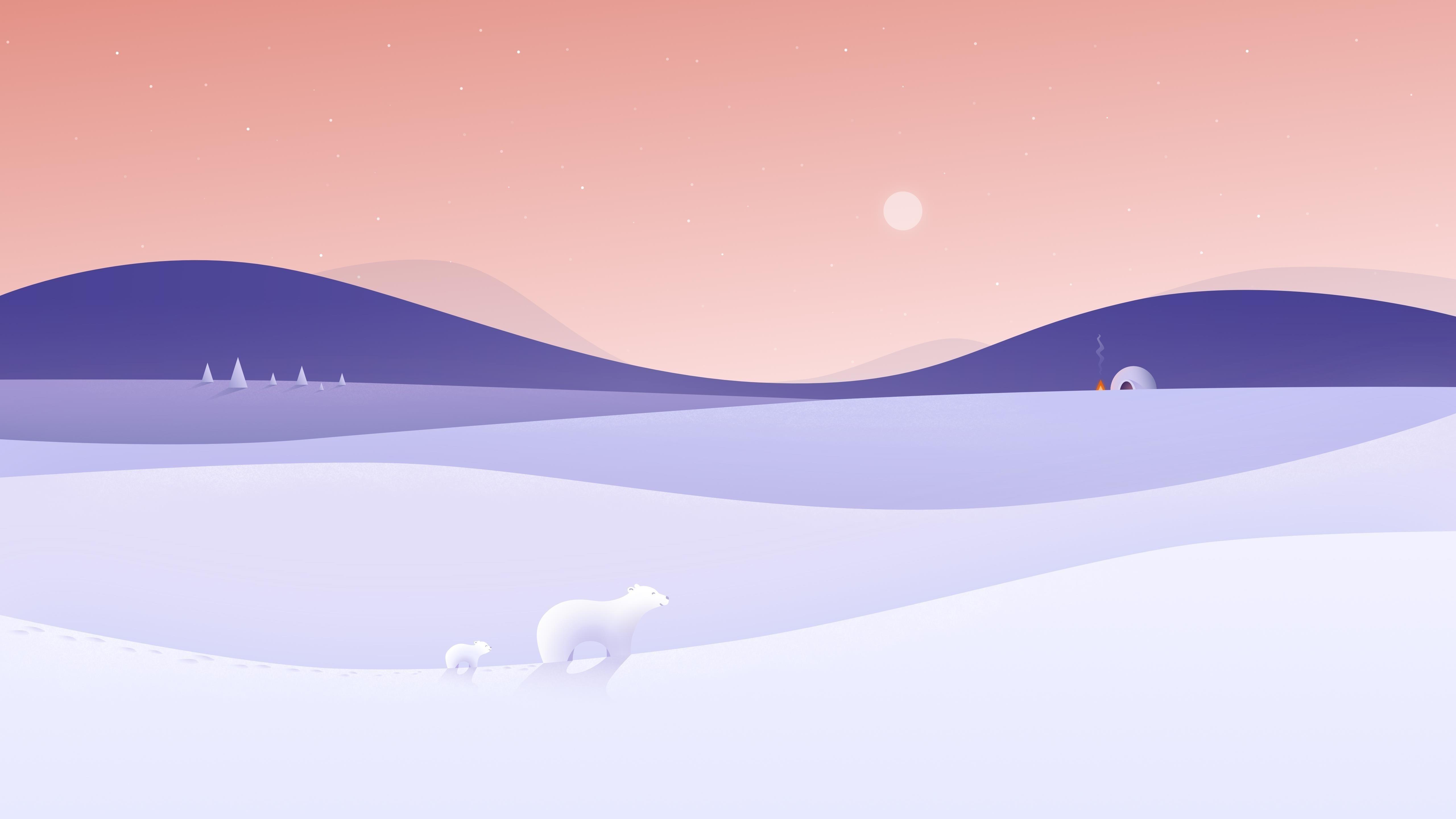 Зима на полюсе обои скачать