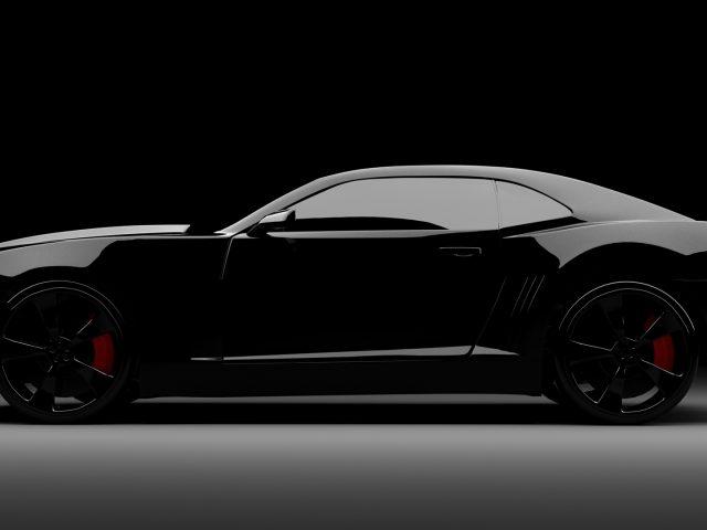 Черный автомобиль стокового Android