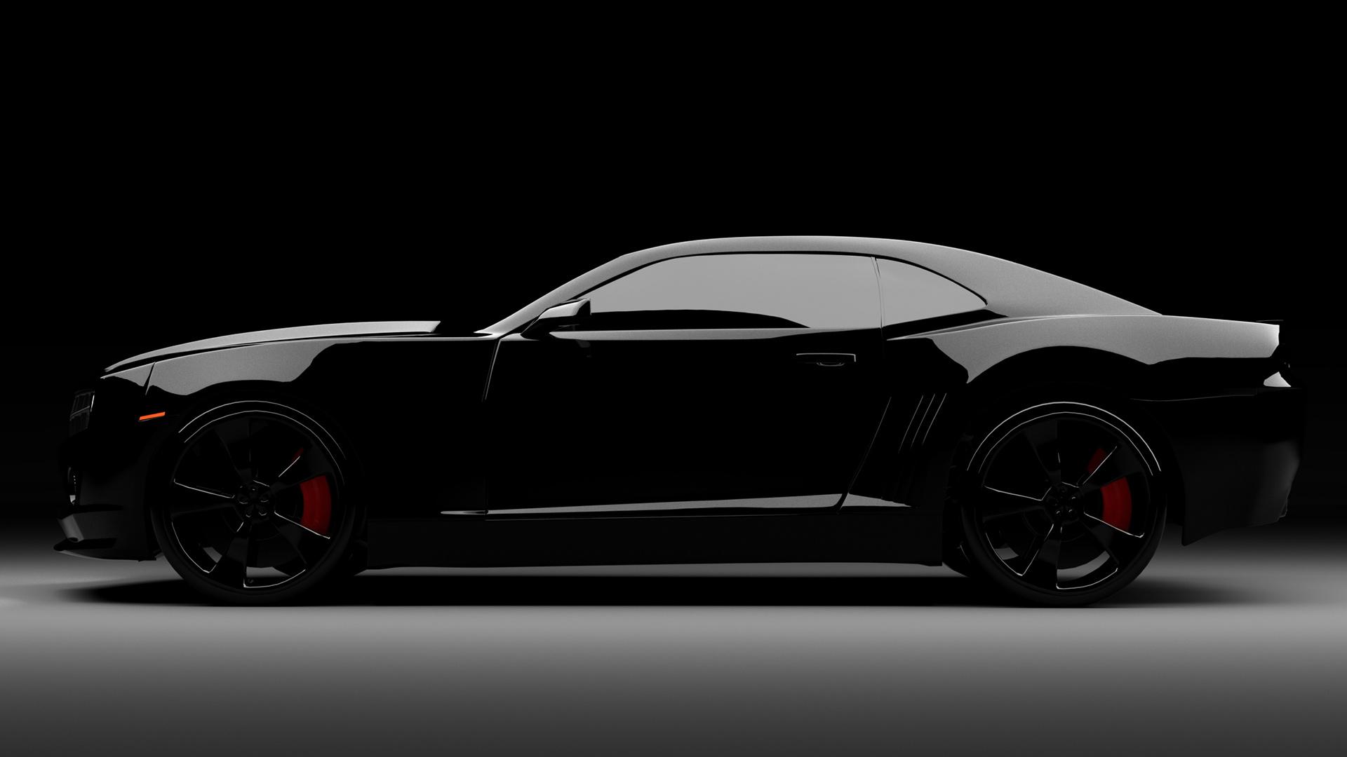 Черный автомобиль стокового Android обои скачать