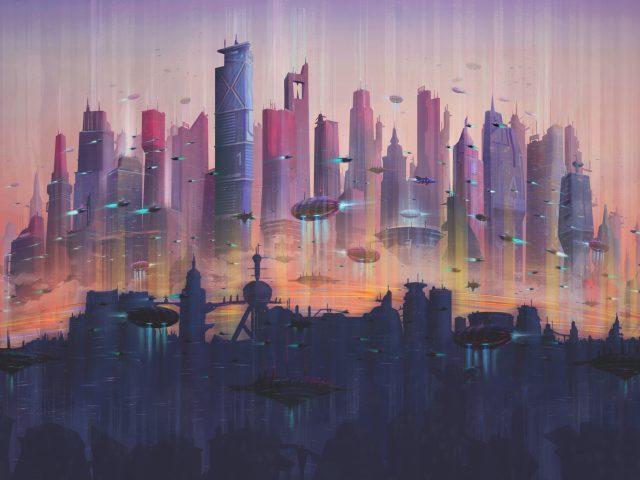 Будущее город.