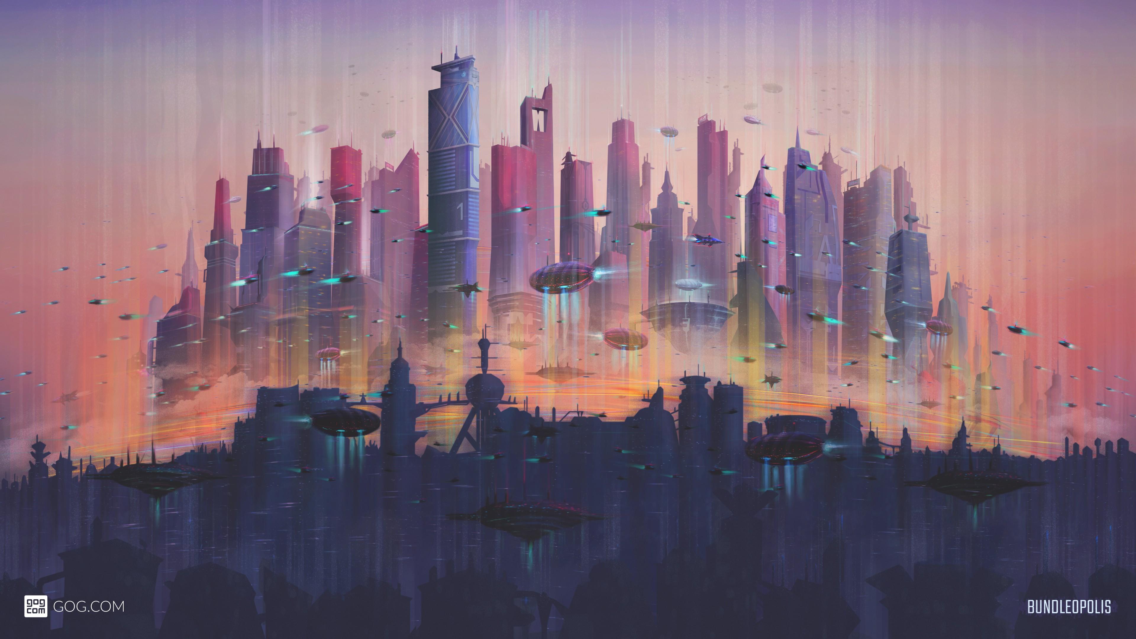 Будущее город. обои скачать