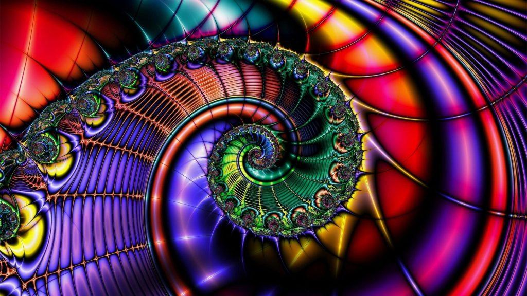 Красочные фрактальный дизайн абстракция обои скачать