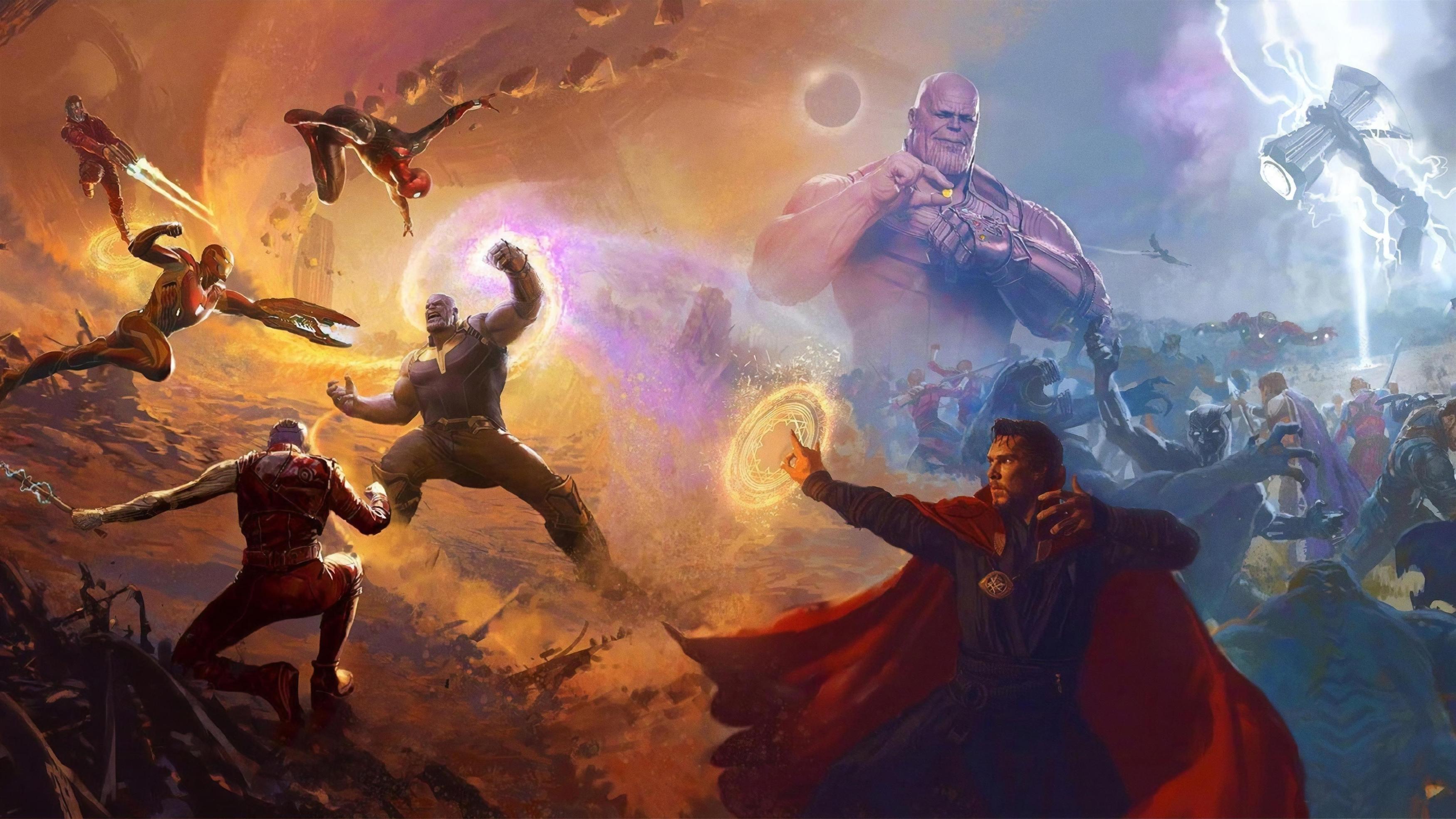 Мстители бесконечность войны финальная битва обои скачать