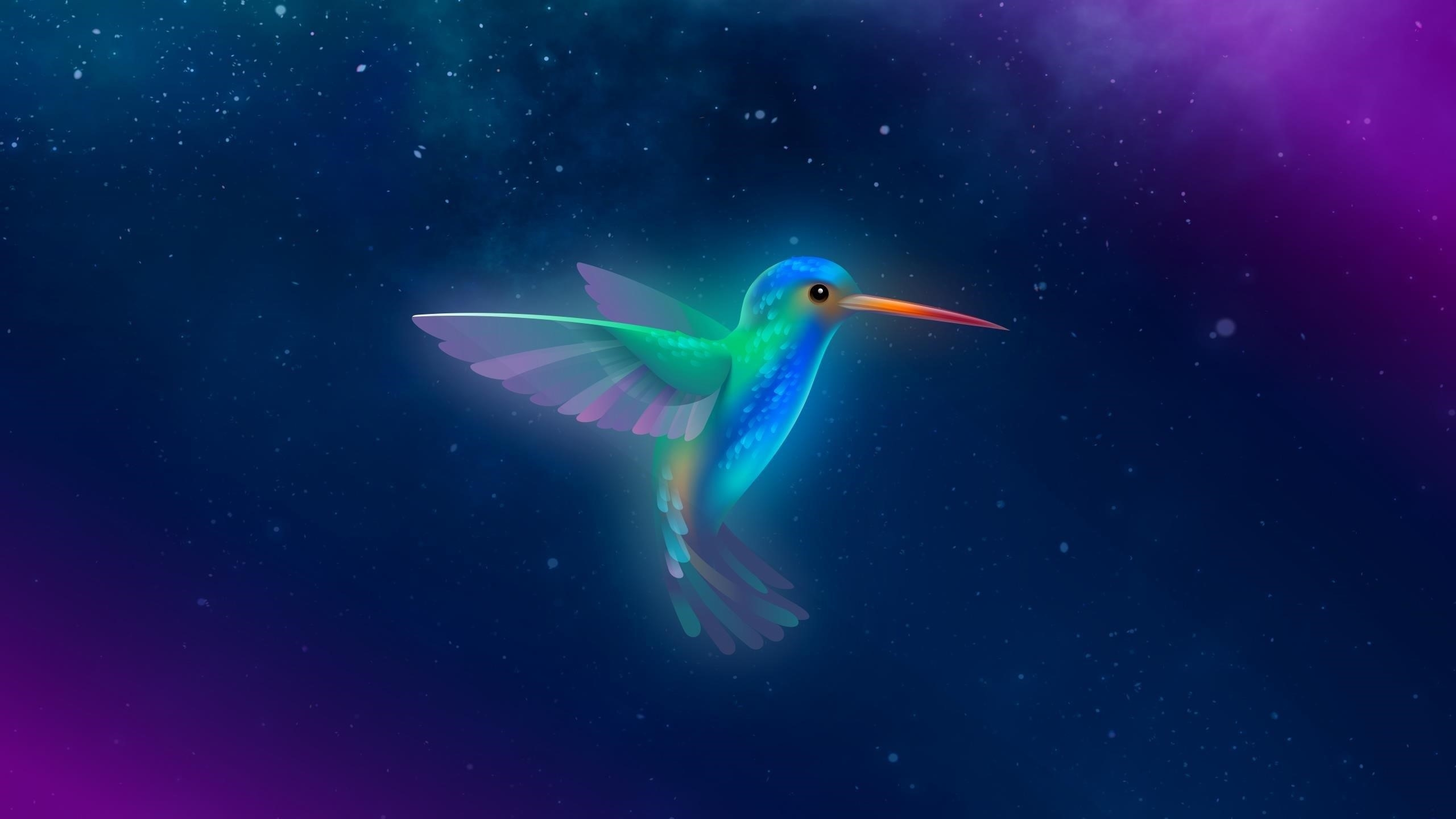 Lubuntu колибри обои скачать