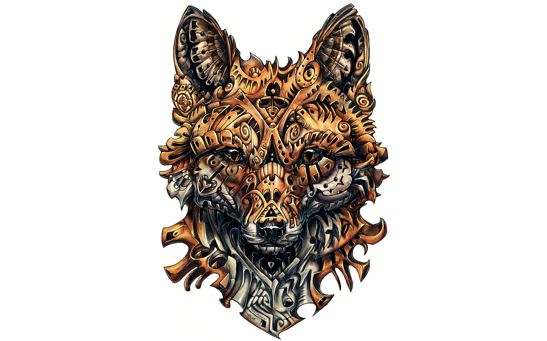Wild fox artwork. обои скачать