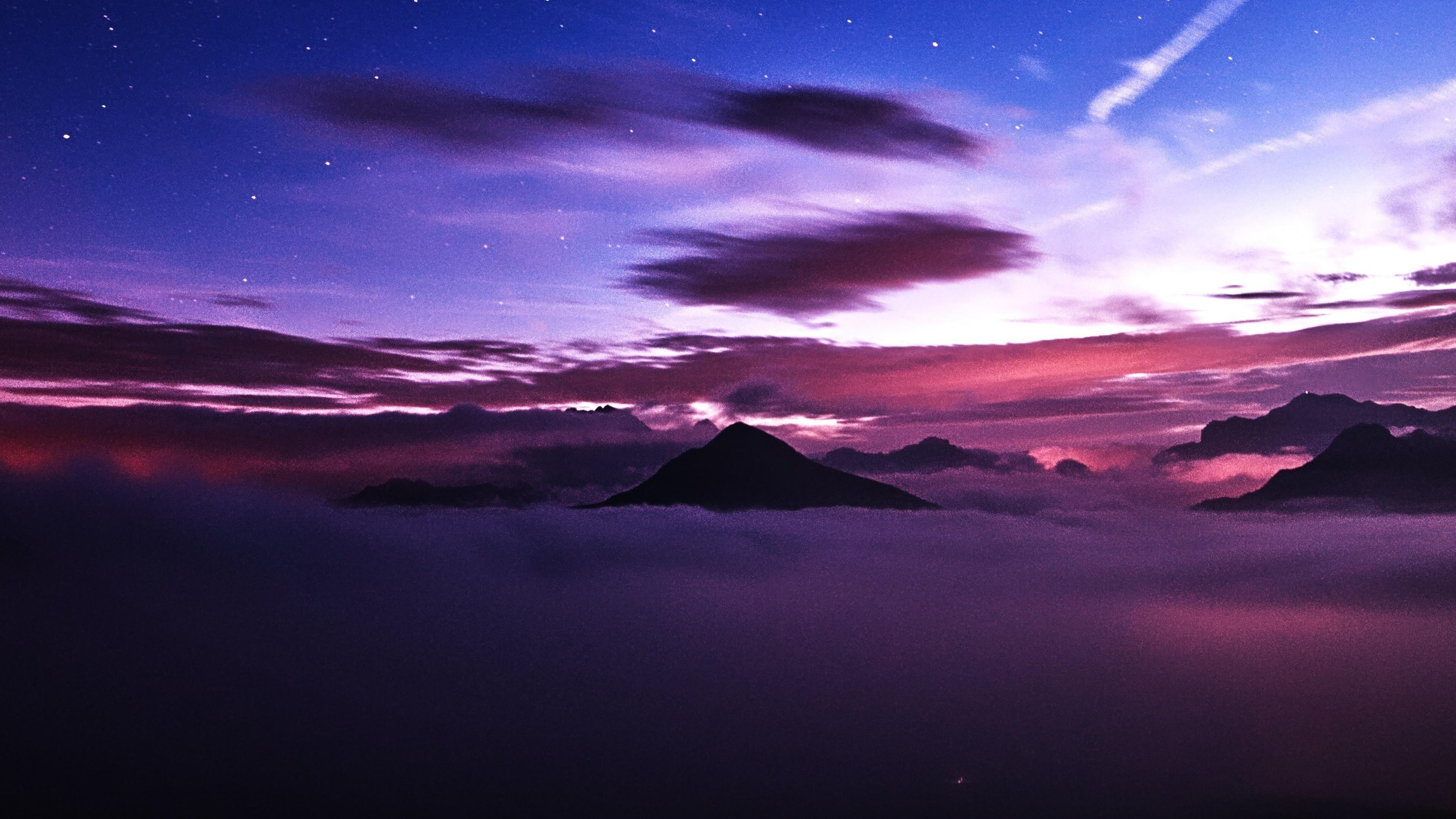 Горы закат пейзаж обои скачать