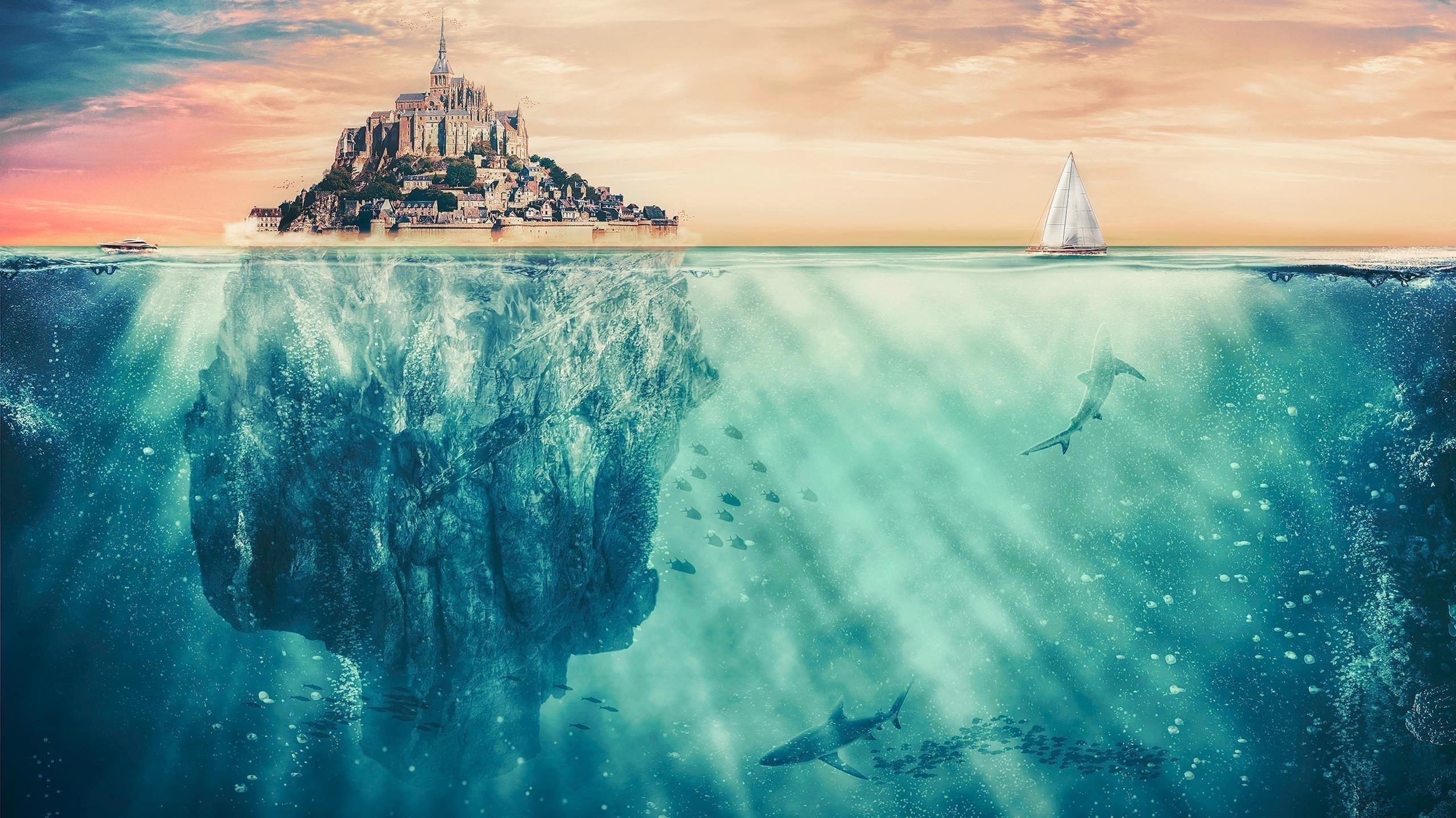 Сюрреалистический Остров фантазий обои скачать