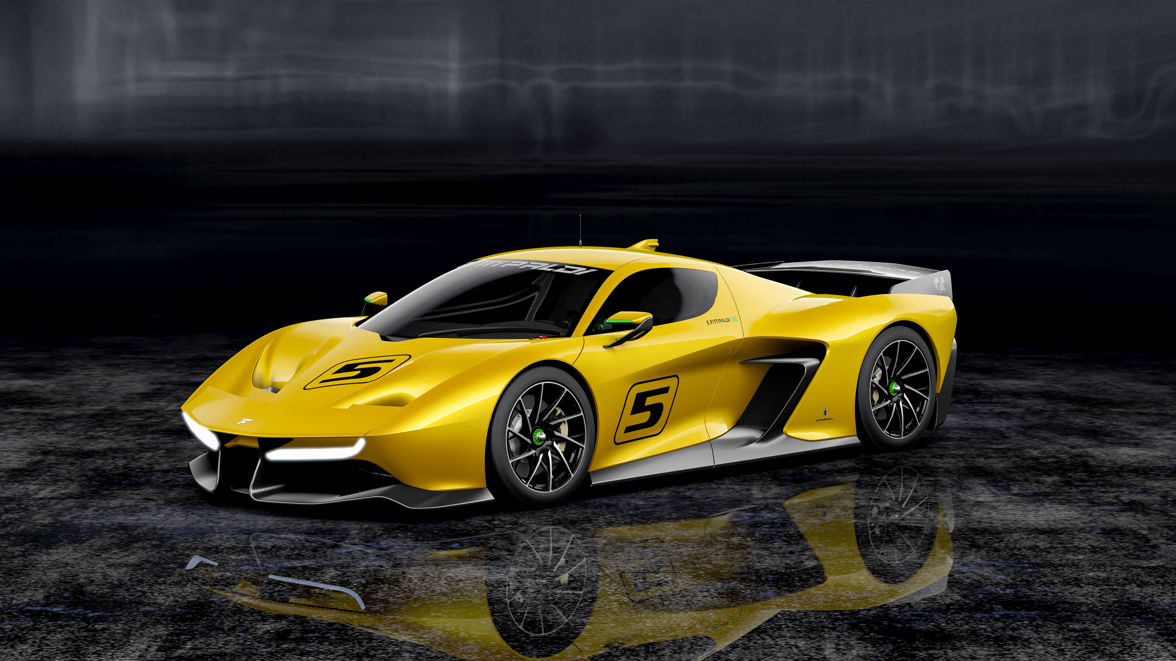 Fittipaldi ef7 vision grand turismo 4k. обои скачать