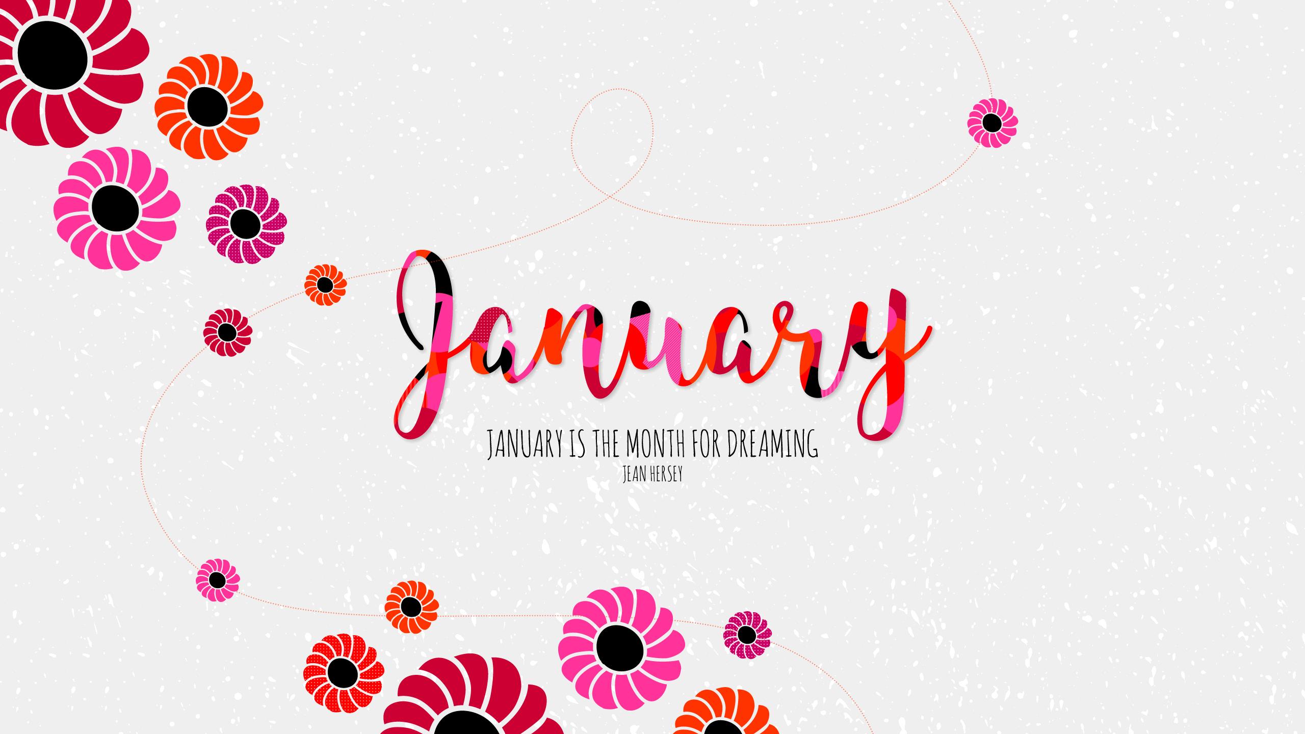 Январь месяц для сновидения обои скачать