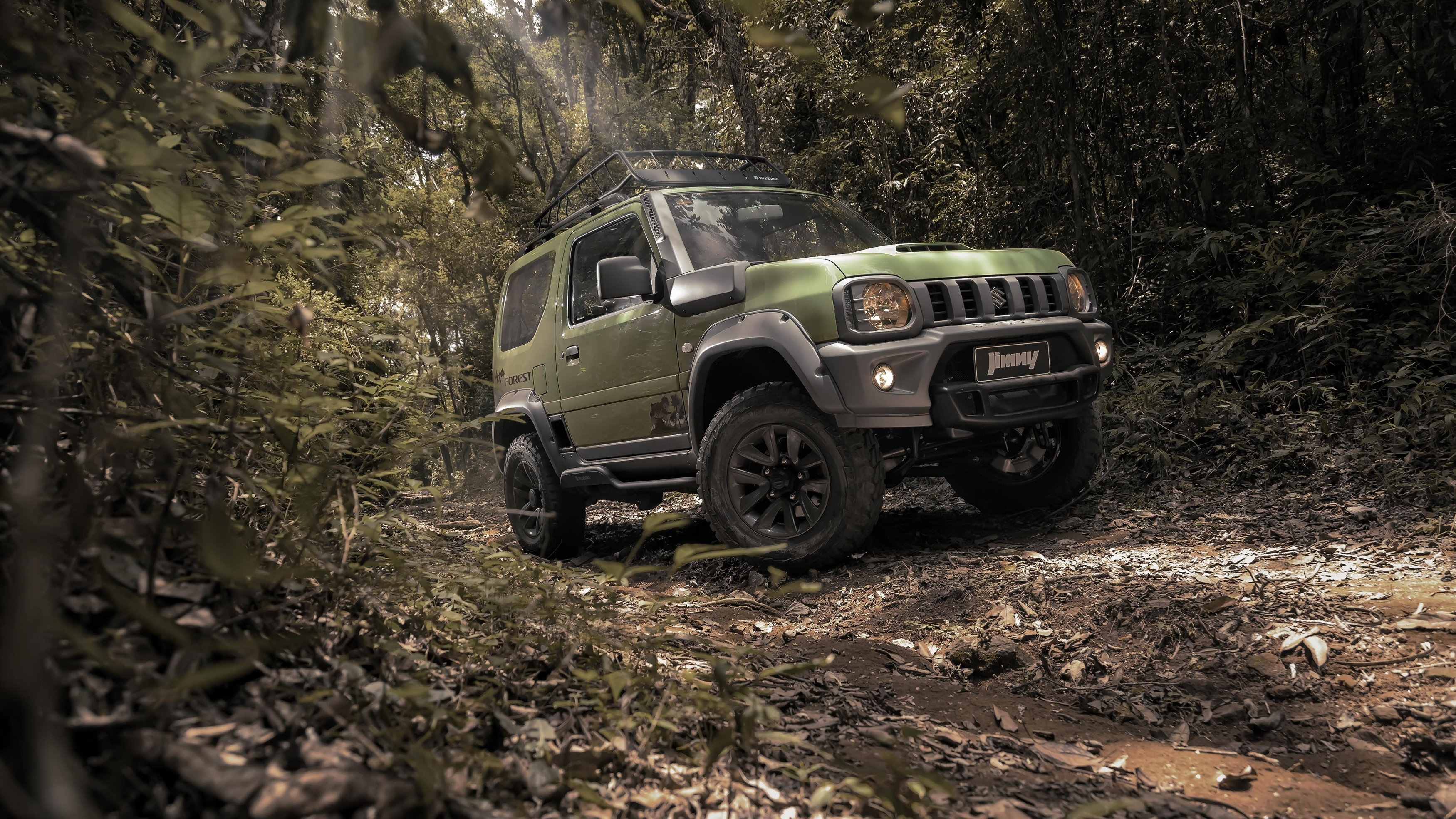Suzuki jimny forest 2020 обои скачать