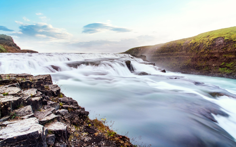 Горные породы трансляция Исландия. обои скачать