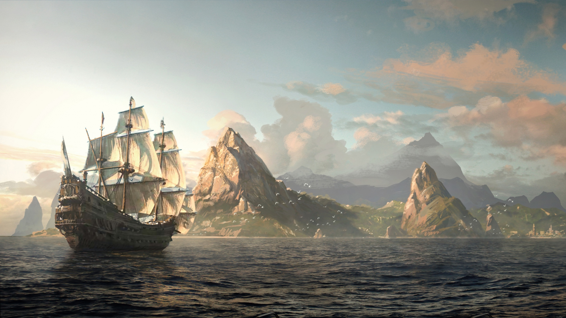 Assassin's Creed IV: Black Flag, ассасин, пират, Эдвард Кенуэй обои скачать