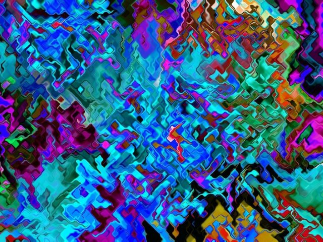 Художественное красочное цифровое искусство абстракция