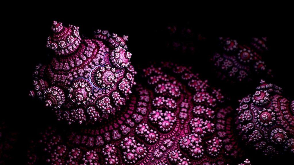 Розовая 3d фрактальная форма абстракция обои скачать