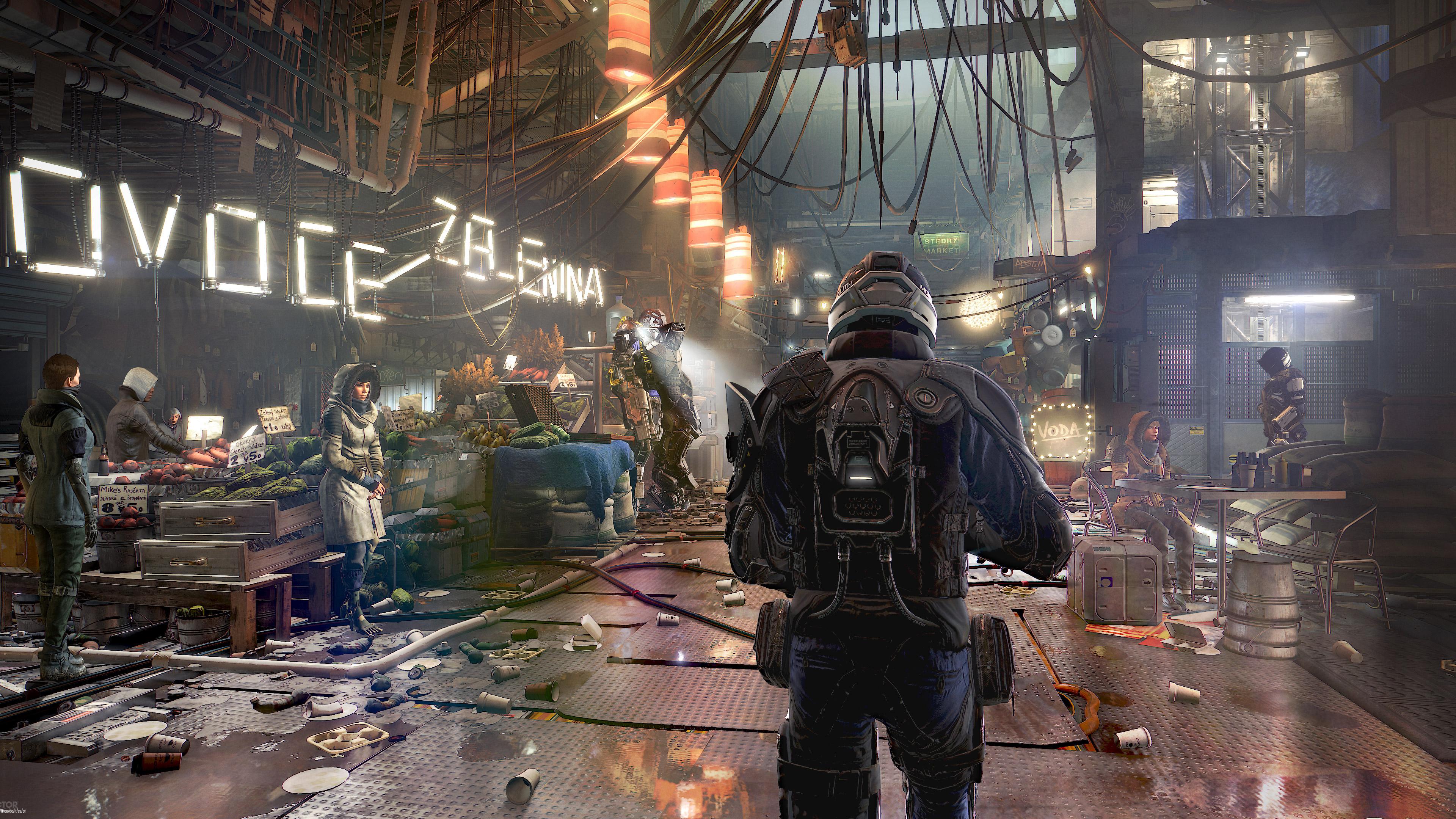 В Deus Ex человечество разделено геймплей обои скачать