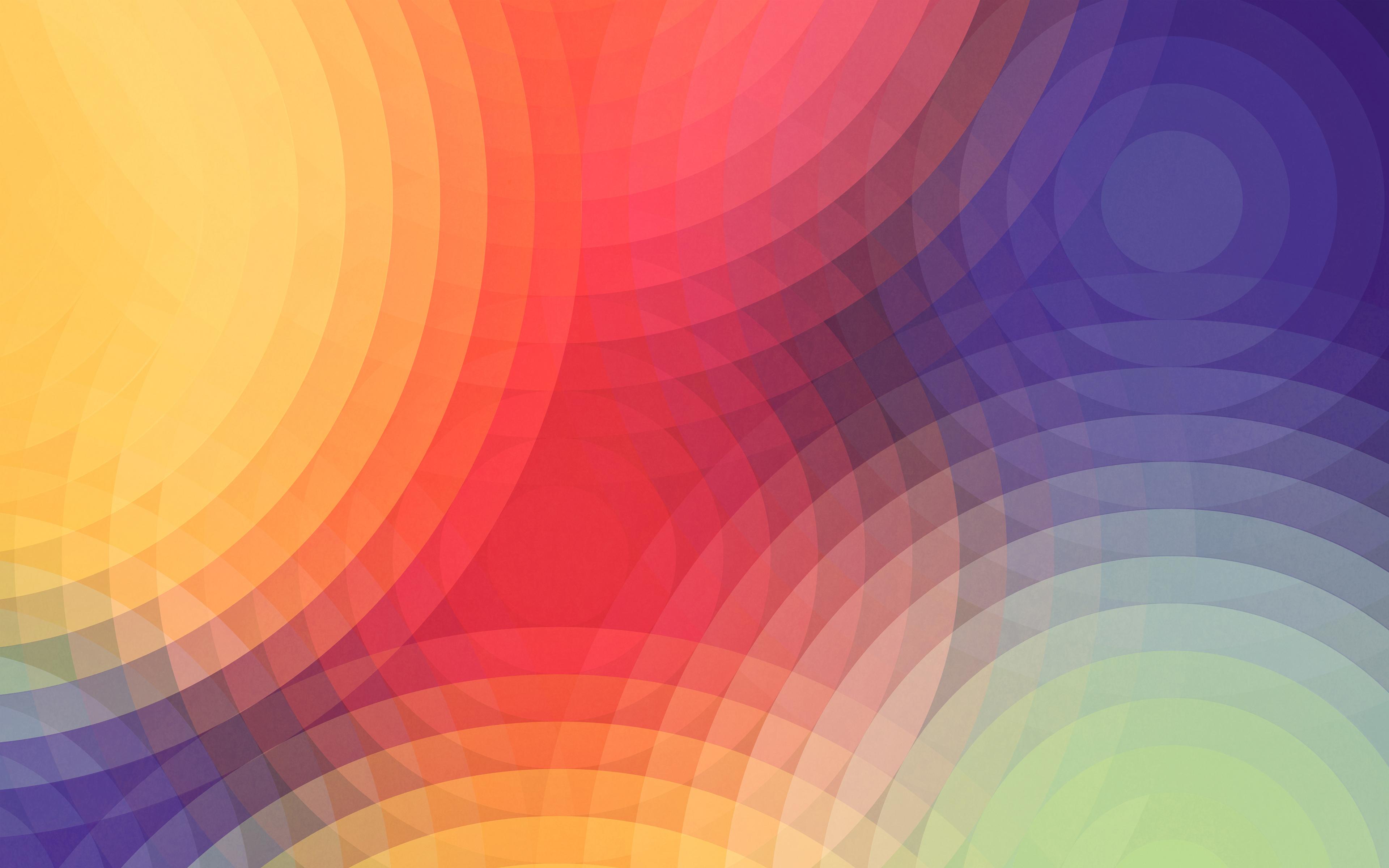Красочные круги обои скачать