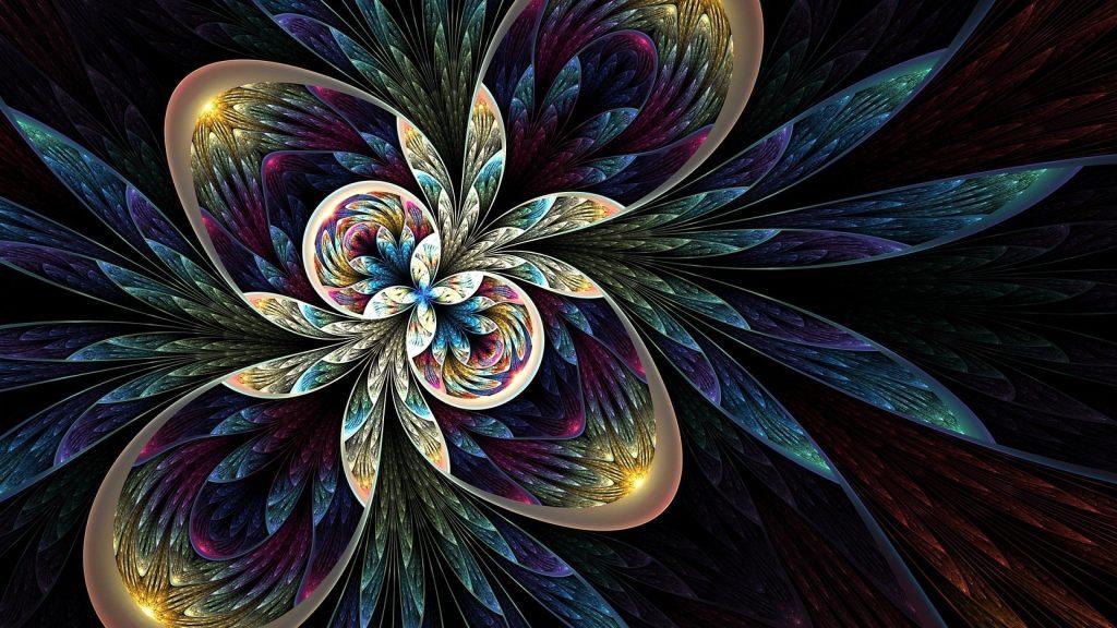 Красочная фрактальная абстракция абстрактное произведение искусства обои скачать