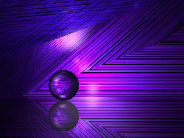 Фиолетово-синие линии абстракция шара абстракция