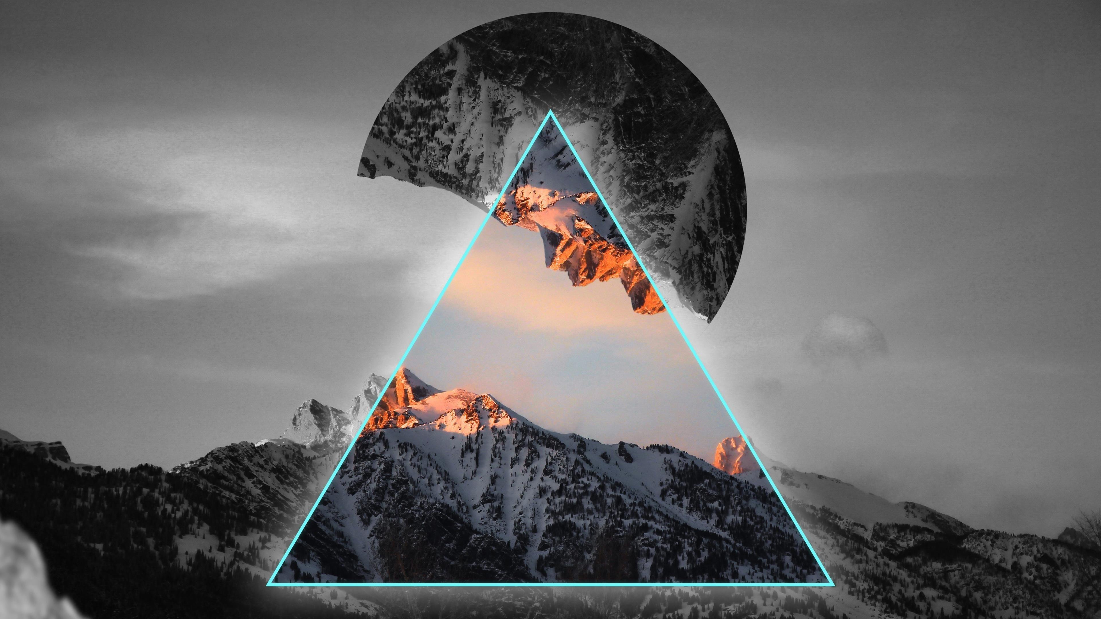 Геометрические горы обои скачать