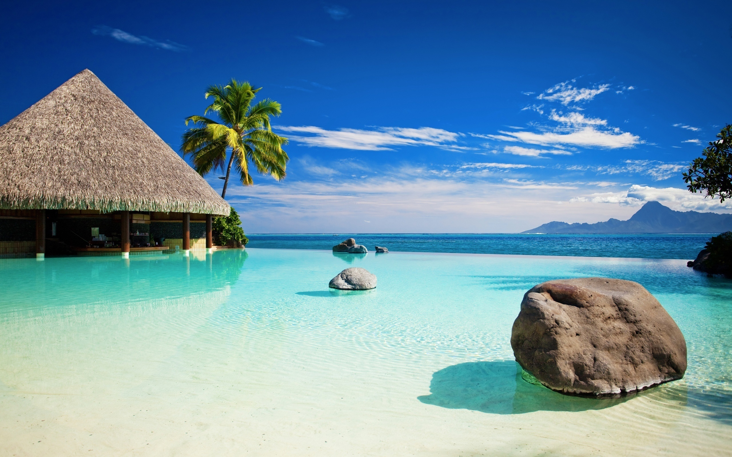 Камень, пейзаж, море обои скачать