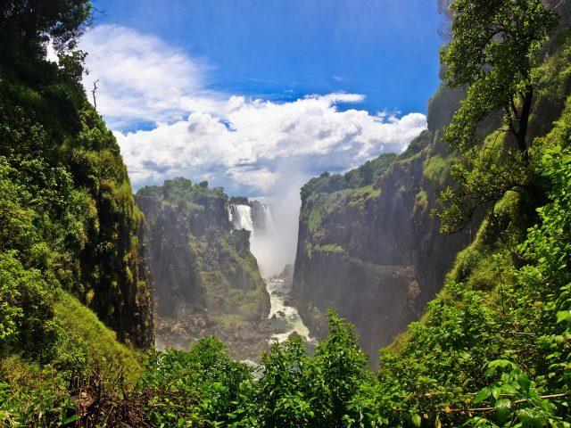 Водопад Виктория Замбия.