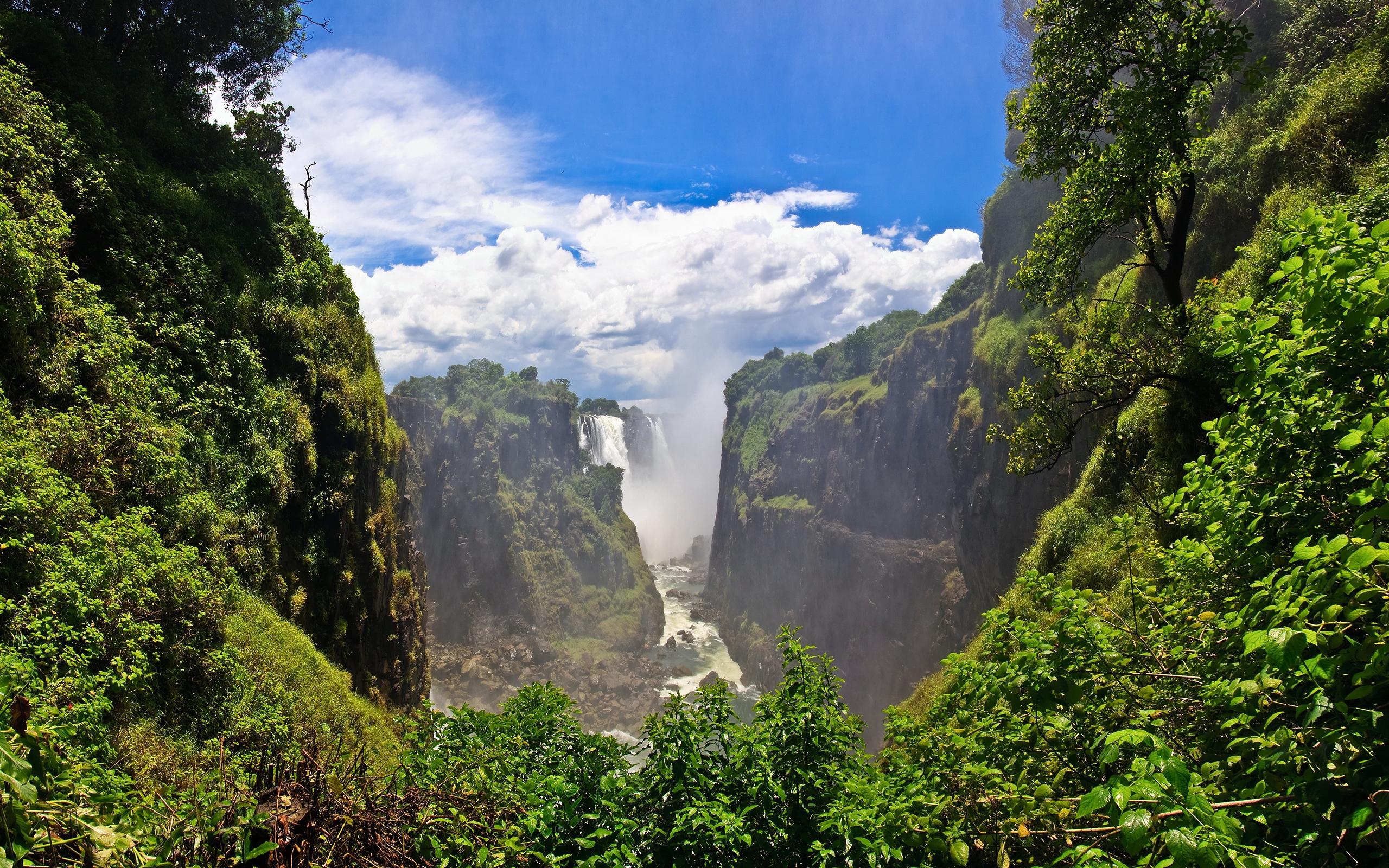 Водопад Виктория Замбия. обои скачать