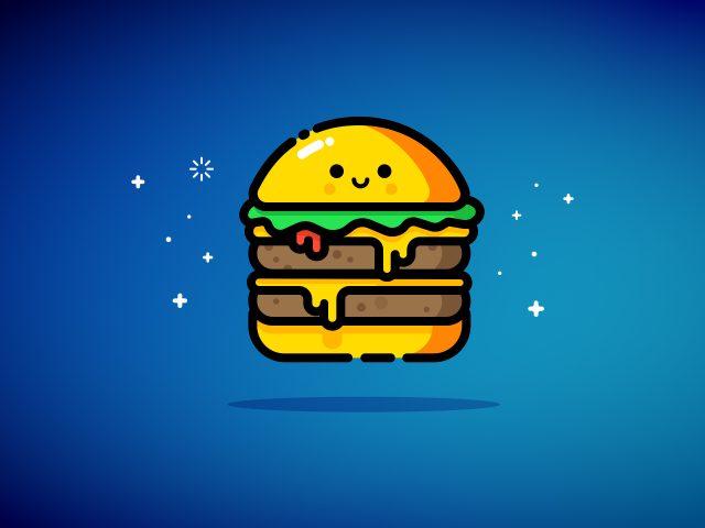 Двойной чизбургер синий