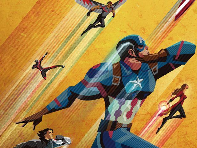 Гражданская война artowork Капитан Америка.