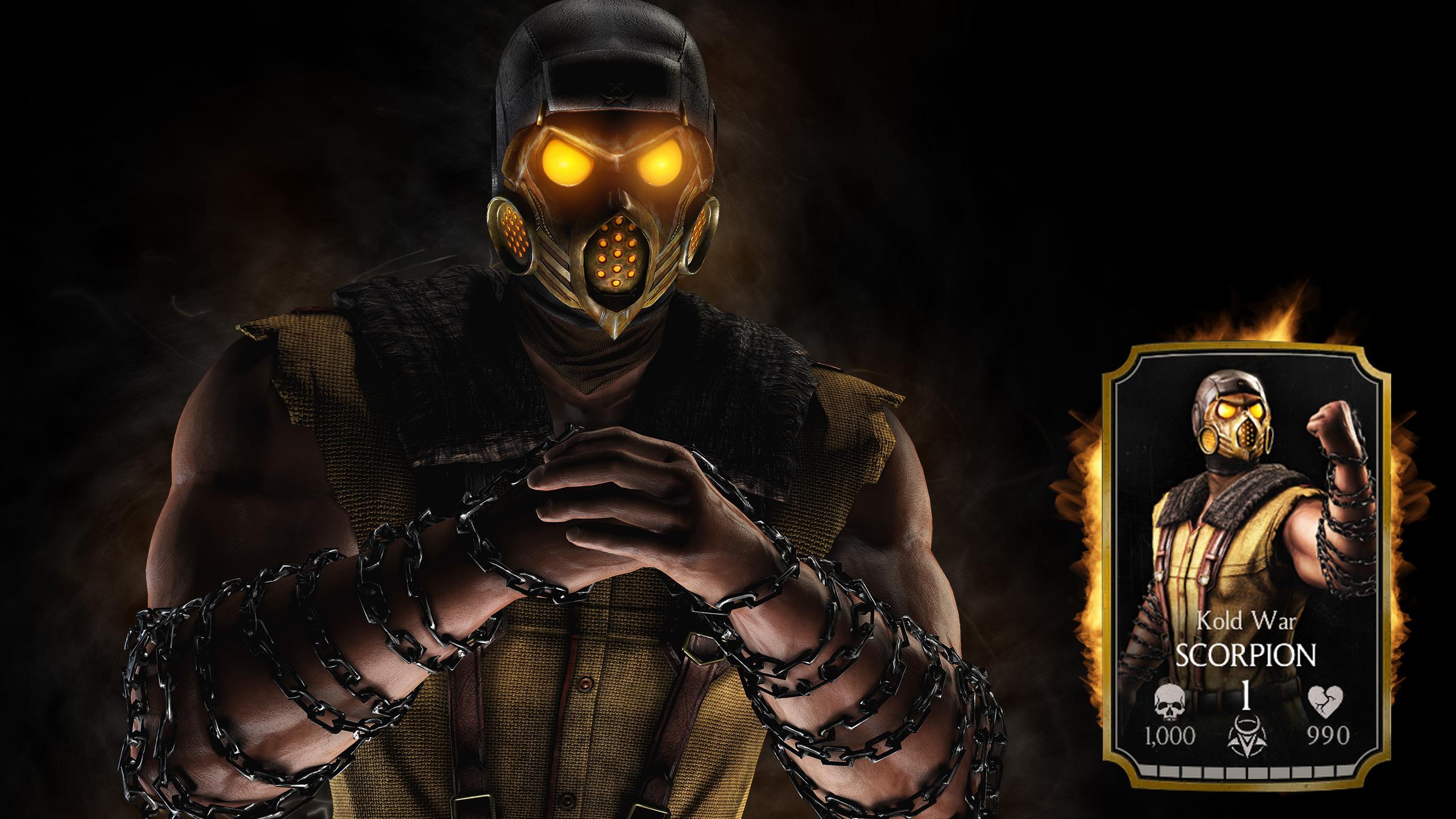 Скорпиона из игры мортал комбат х. обои скачать