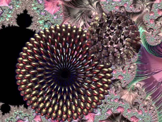 Красочные блики цветочные фрактальные абстракции искусство абстракции