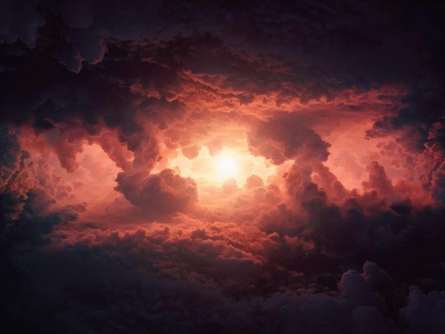 Грозовые облака в небе