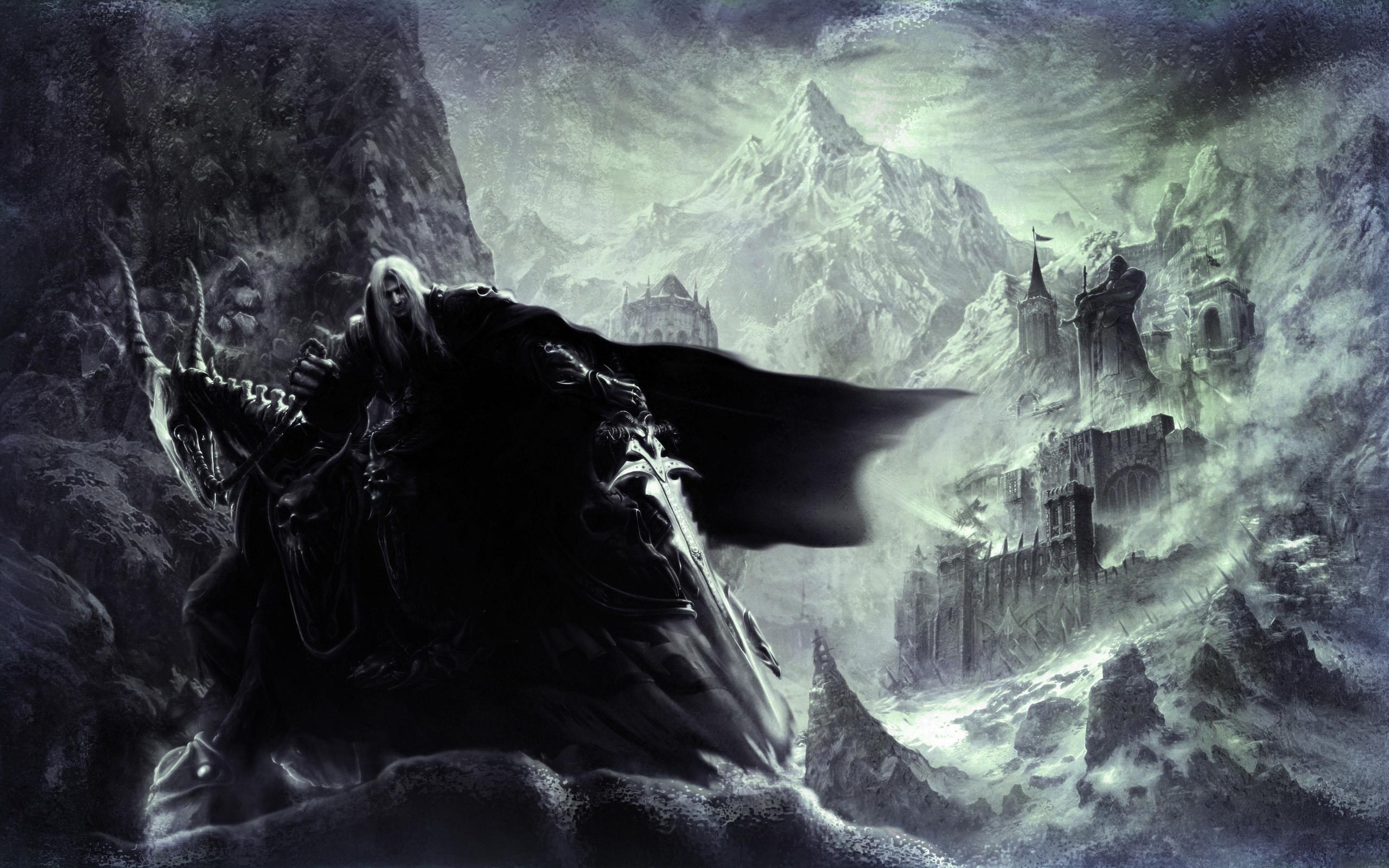 Статуя, горы, плащ, артес обои скачать