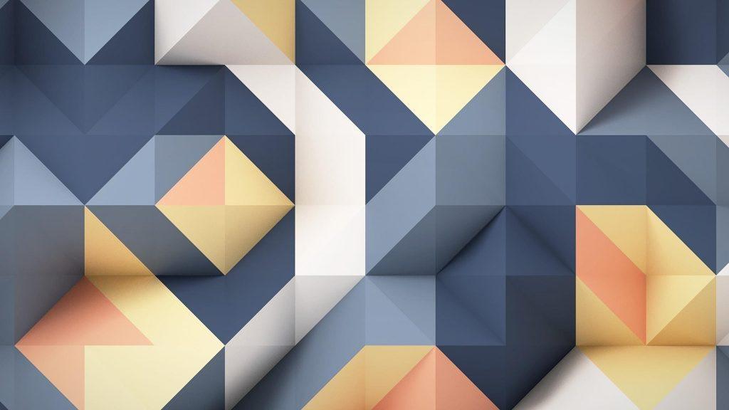 Синий пепельный белый желтый 3d абстрактный абстрактный обои скачать