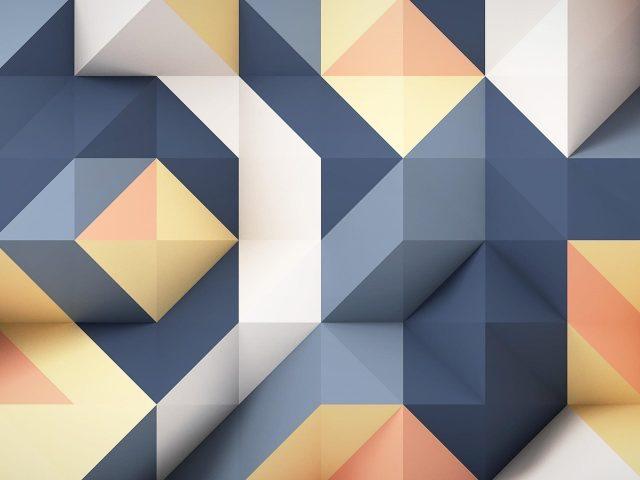 Синий пепельный белый желтый 3d абстрактный абстрактный